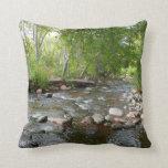 Oak Creek and Mallard Ducks Nature Photography Throw Pillow