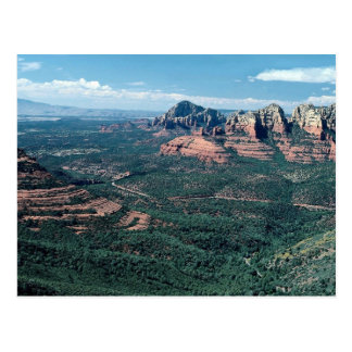 Oak Creek Canyon from Schnebly Hill Road, highway Postcard