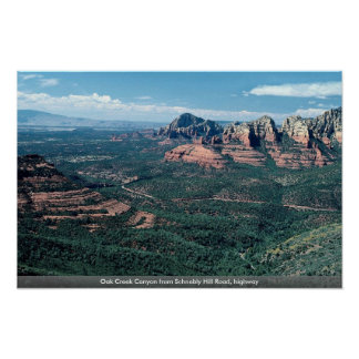 Oak Creek Canyon from Schnebly Hill Road, highway Poster