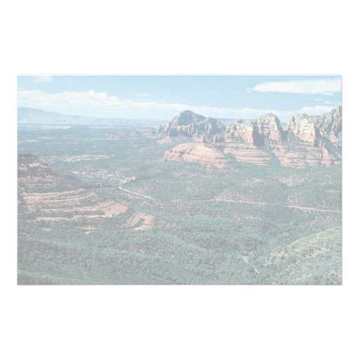 Oak Creek Canyon from Schnebly Hill Road, highway Stationery Design
