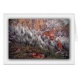 Oak Creek Canyon Snow Greeting Card