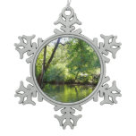 Oak Creek I in Sedona Arizona Nature Photography Snowflake Pewter Christmas Ornament
