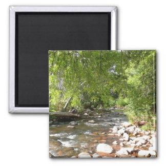 Oak Creek II in Sedona Arizona Nature Photography 2 Inch Square Magnet