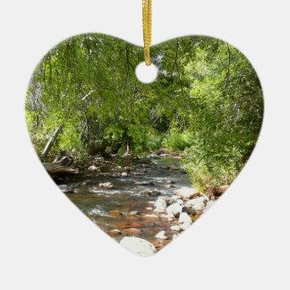 Oak Creek II in Sedona Arizona Nature Photography Ceramic Ornament