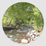 Oak Creek II in Sedona Arizona Nature Photography Classic Round Sticker