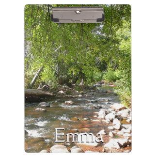 Oak Creek II in Sedona Arizona Nature Photography Clipboard