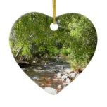 Oak Creek II in Sedona Arizona Nature Photography Double-Sided Heart Ceramic Christmas Ornament