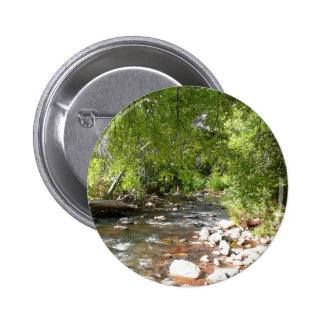 Oak Creek II in Sedona Arizona Nature Photography Pinback Button