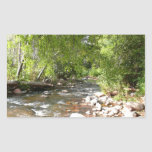 Oak Creek II in Sedona Arizona Nature Photography Rectangular Sticker