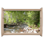 Oak Creek II in Sedona Arizona Nature Photography Serving Tray