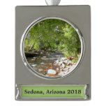 Oak Creek II in Sedona Arizona Nature Photography Silver Plated Banner Ornament