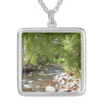 Oak Creek II in Sedona Arizona Nature Photography Silver Plated Necklace