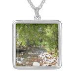 Oak Creek II in Sedona Arizona Nature Photography Silver Plated Necklace