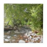 Oak Creek II in Sedona Arizona Nature Photography Small Square Tile