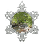 Oak Creek II in Sedona Arizona Nature Photography Snowflake Pewter Christmas Ornament