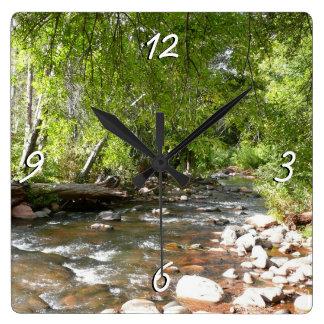 Oak Creek II in Sedona Arizona Nature Photography Square Wall Clock