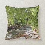 Oak Creek II in Sedona Arizona Nature Photography Throw Pillow