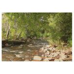 Oak Creek II in Sedona Arizona Nature Photography Wood Poster
