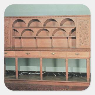 Oak Dresser Square Sticker
