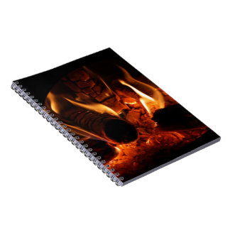 Oak Flames in Chimenea photo Notebook
