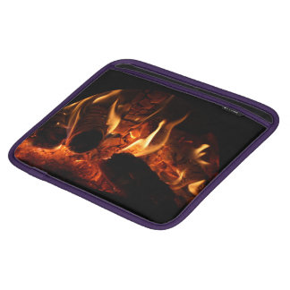 Oak Flames in Chimenea photo Sleeve For iPads