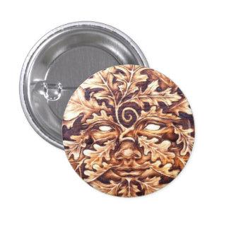 Oak Green Woman Button Pin