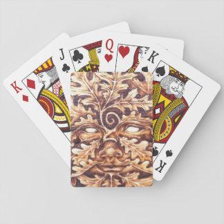 Oak Green Woman Playing Cards