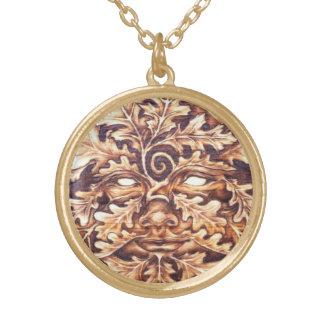 Oak GreenWoman - Md Goldtone Pendant