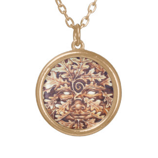 Oak GreenWoman - Sm Goldtone Pendant