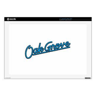Oak Grove in cyan Decals For Laptops