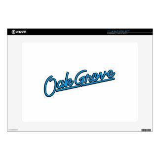 """Oak Grove in cyan 15"""" Laptop Skin"""