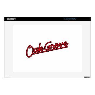 Oak Grove in red Laptop Decal