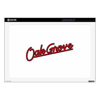 "Oak Grove in red 17"" Laptop Skin"