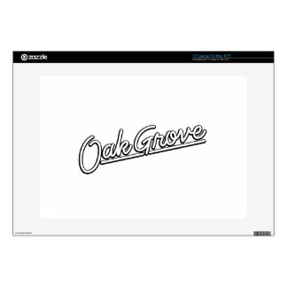Oak Grove in white Laptop Decal