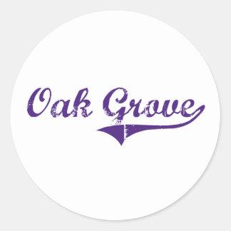 Oak Grove Louisiana Classic Design Sticker