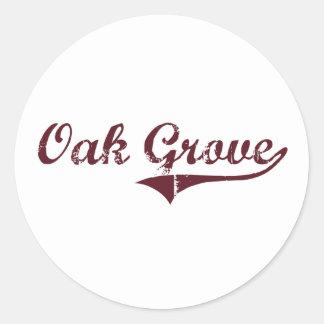 Oak Grove Minnesota Classic Design Round Sticker