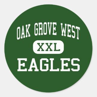 Oak Grove West - Eagles - Junior - Bartonville Round Stickers