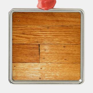 Oak Hardwood Floor Metal Ornament