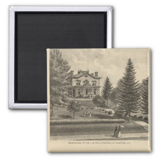 Oak Hill Fauntleroy residence 2 Inch Square Magnet