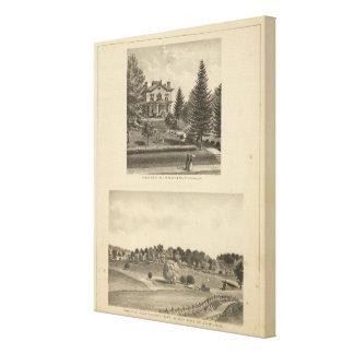 Oak Hill Fauntleroy residence Canvas Print