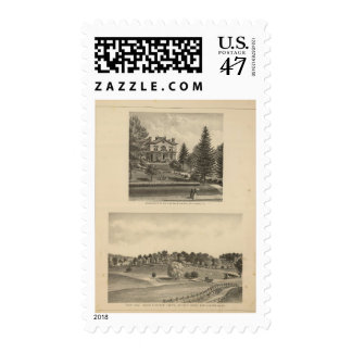 Oak Hill Fauntleroy residence Postage Stamp