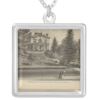 Oak Hill Fauntleroy residence Silver Plated Necklace