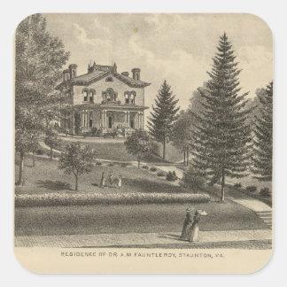 Oak Hill Fauntleroy residence Square Sticker