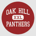 Oak Hill - Panthers - Middle - Newton Round Stickers