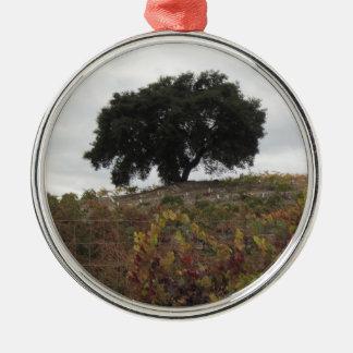 Oak in Autumn Vineyard Ornament