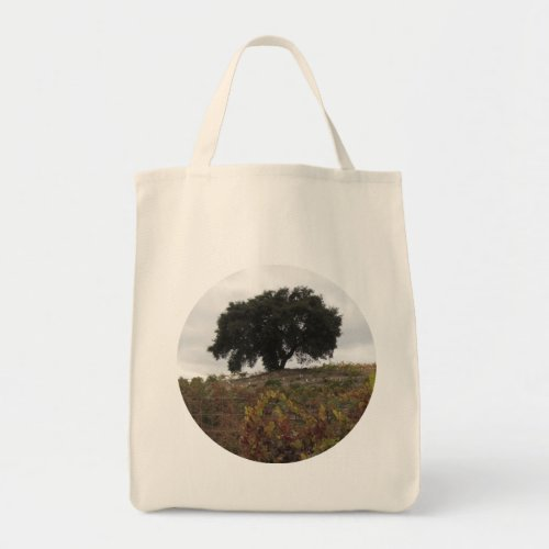 Oak in Autumn Vineyard Tote Bag