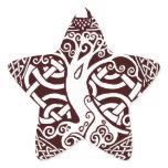 Oak in Snow Star Sticker