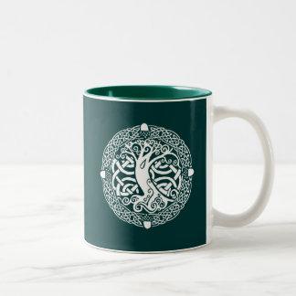Oak in Snow Two-Tone Coffee Mug