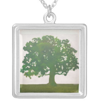Oak In Spring Silver Plated Necklace