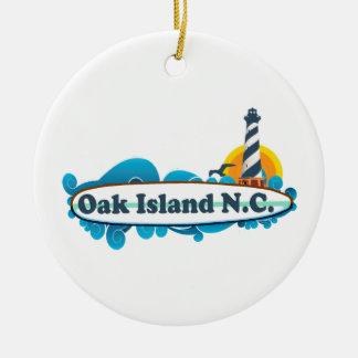 Oak Island. Ceramic Ornament